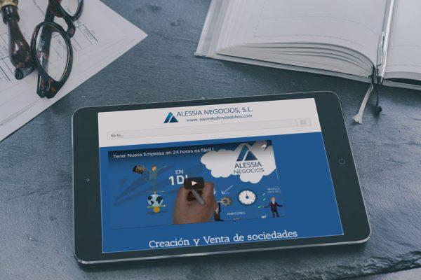 Diseño web corporativo Alessia Negocios