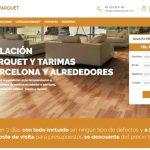 Renovación web de servicios Instalaparquet